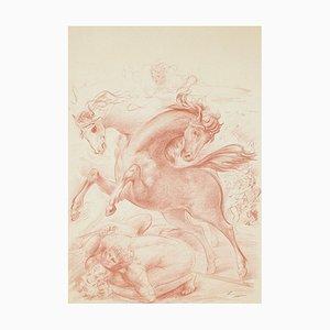 Horses - Original Lithographie von Aligi Sassu - 1965 1965