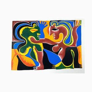 Affiche Lovers - Original par Fritz Baumgartner - 1970 ca. 1970 env.