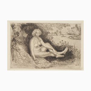 Nude Woman - Original Etching - 1940 1940