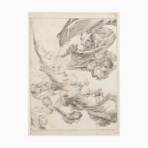 Angels - Original Etching by E. Fessard - 1748 1748