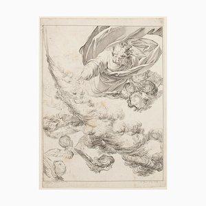 Angels - Original Radierung von E. Fessard - 1748 1748