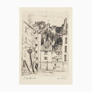 Landscape - Original Radierung von Solange de Bièvre - 1971 1971