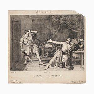 Marius at Minturnae - Original Lithograph After J. G. Drouais- 1829 1829