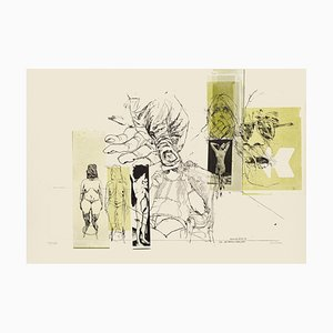 Nude and Hand - Original Lithograph by Sergi Barletta - 1970s 1970s