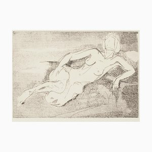 Nude - Original Etching - 1960s 1960s