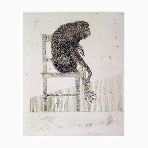 Monkey - Original Radierung von Leo Guida - 1973 1973