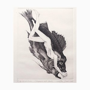 Colapesce - Original Etching by Leo Guida - 1975 1975
