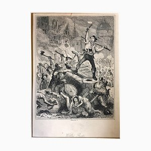 Wilkes Riots- Original Radierung von PHIZ - Mitte 19. Jahrhundert Mitte 19. Jh