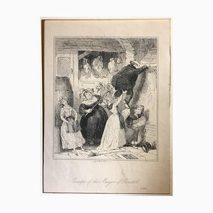 Escape of the Mayor of Bristol - Etching by PHIZ - Mid 19th Century Mid 19th Century