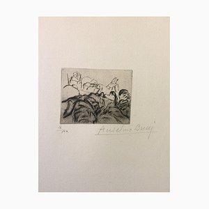 Extenués - Original Radierung von Anselmo Bucci - 1917 1917