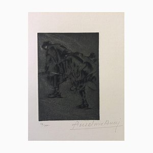 Dans la Nuit - Original Radierung von Anselmo Bucci - 1917 1917