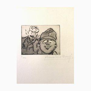 Otto et Fritz - Original Etching by Anselmo Bucci - 1917 1917