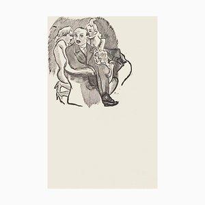 Womanizer - Original Zincography von Mino Maccari - 1970s 1970s
