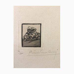 Fusilier - Original Etching by Anselmo Bucci - 1917 1917