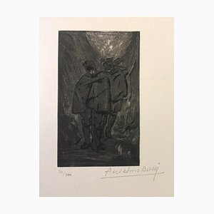 Halte - Original Radierung von Anselmo Bucci - 1917 1917