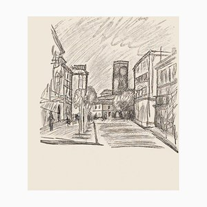 City - Original Zincography von Mino Maccari - 1970s 1970s