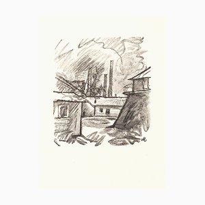 City - Original Zincography by Mino Maccari - 1970s 1970s