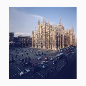 Milan Cathedral Oversize C Print Framed in Black by Slim Aarons