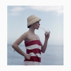 Pussyfooting Oversize C Print Framed in White by Slim Aarons