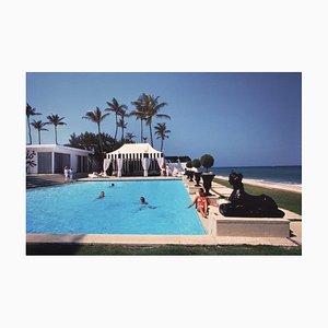 Molly Wilmot's Pool Oversize C Print Framed in White by Slim Aarons