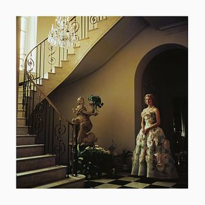 Muffy Bancroft Oversize C Print Framed in Black by Slim Aarons