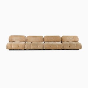 Champagne Velvet Camaleonda Sofa by Mario Bellini for B&B Italia, 1970s