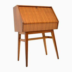 Vintage Walnut Writing Bureau, 1950s