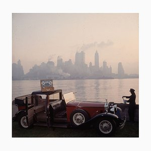 New York Picnic Oversize C Print Framed in Black by Slim Aarons