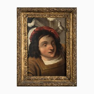 The Knight - Original Oil on Board by Pietro della Vecchia - 17th Century 17th Century