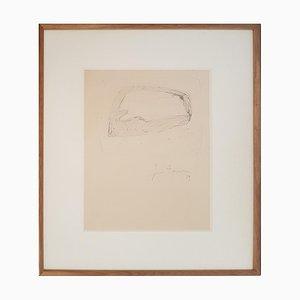 Ohne Titel - Original Zeichnung von Lucio Fontana - 1959 1959