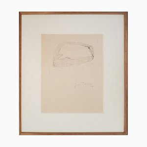 Untitled - Original Drawing by Lucio Fontana - 1959 1959