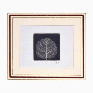 Leaf - Original Mezzotint by Yozo Hamaguchi - 1967 1967