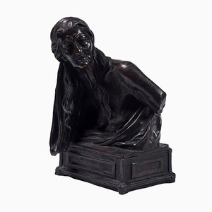 The Sibyl - Original Bronze Sculpture by Vincenzo Gemito - End of 19th Century 1929