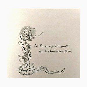 Le Dragons des Mers - Original Vintage Book Illustrated by L.T. Foujita 1955