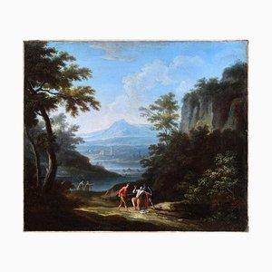 Deux Paysages Arcadiques - JF Van Bloemen (suiveur de) - Huile sur Toile 18ème Siècle