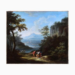 Two Arcadic Landscapes - J.F. Van Bloemen (follower of) - Oil on Canvas 18th Century