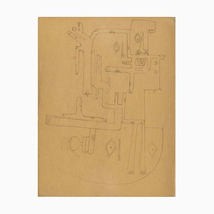 Untitled - Original Important Drawing by Wifredo Lam - 1941 1941