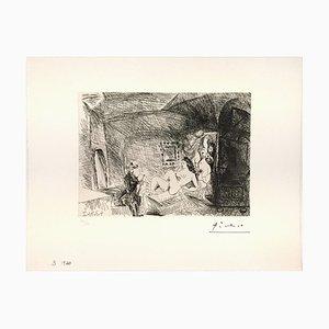 Peintre, Modele et Toile dans une Piece Voutee du XVIIe Siecle 1971