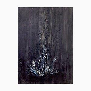 Black Waterfall - Wax Pigments on Cardboard by Claudio Palmieri - 2009 2009