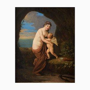 Scène Allégorique, Aphrodite et Eros - Huile sur Toile - Fin 18ème / Début 19ème Fin 18ème - Début 19ème Siècle