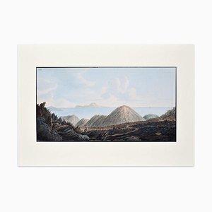 Landscape Campi Phlegraei - Plate XIII - View of Capri - By Hamilton-Fabris 1776-79