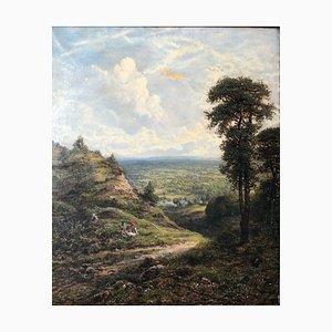 Landscape - Oil on Canvas par GW Mote - 1888 1888