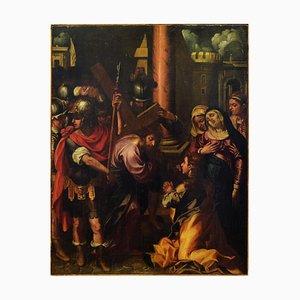 Zum Kalvarienberg mit Madaleine - Öl auf Leinwand von Ippolito Borghese - Frühe 1600 Früh 1600