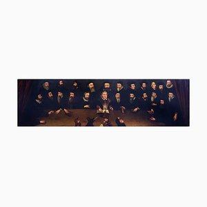 The Primitive Reformers - Oil on Canvas di English School Master 1600/1700 17th / 18th Century
