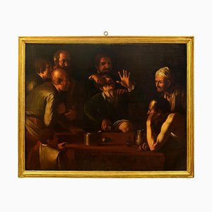 The Tooth-Puller (Il Cavadenti) - Huile sur Toile par Follower de Caravaggio Fin 17ème Siècle