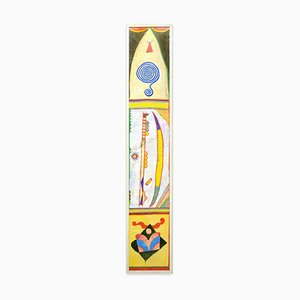 Boomerang - Acrylic Painting on Rice Paper by Martin Bradley - 1978 1978