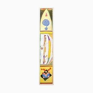 Boomerang - Acrylmalerei auf Reispapier von Martin Bradley - 1978 1978