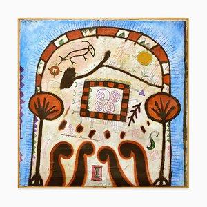 Rocky Art - Original Mixed Media on Canvas by Martin Bradley - 1978 1978