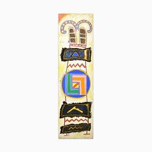 Goat Spirit - Mixed Media on Canvas by Martin Bradley - 1978 1978
