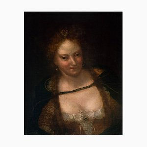 Female Portrait - Oil on Canvas by Venitian School - Early 17th Century 17th Century